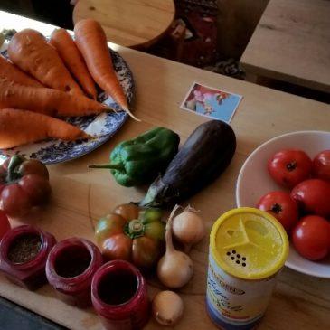 Vom Garten in die Küche auf den Tisch